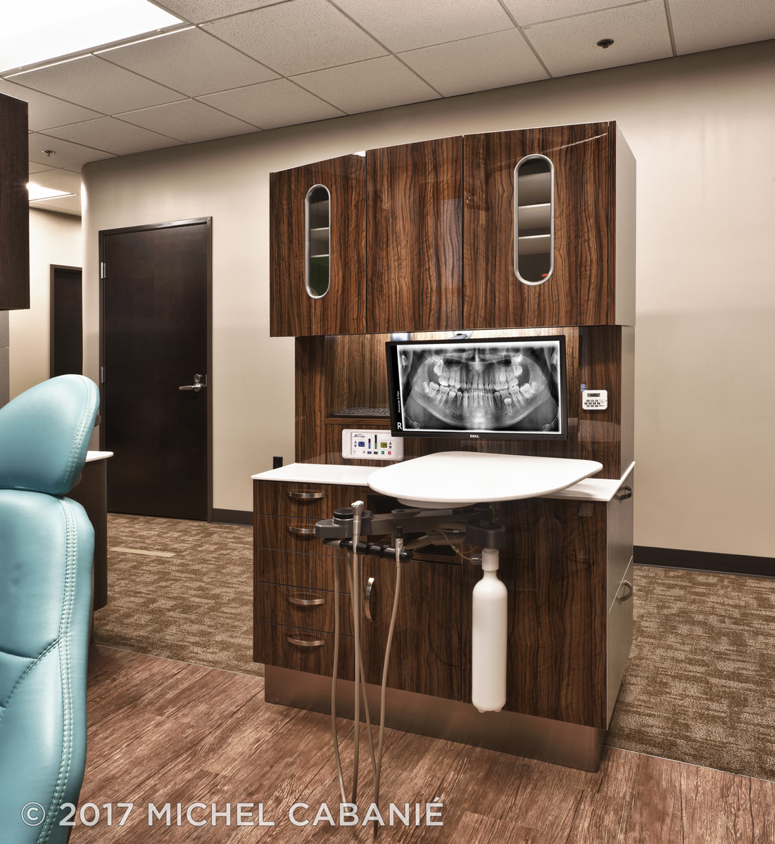 Orenco Station Clinic featuring Brilliance Finish Dental Cabinetry