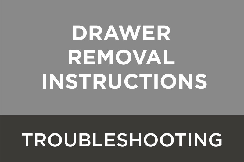 Download MCC Dental's troubleshooting guide for drawer removal instructions